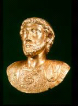 Roman bust of the emperor Marcus Aurelius, Musée Romain d'Avenches