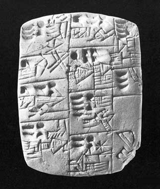 Iraqi cuneiform tablet made of clay