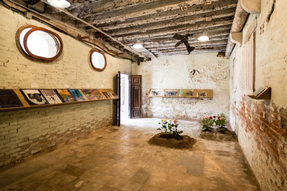 Anna Boghiguian, Ani, 2015. Installation view, Mekhitarist Monastery of San Lazzaro degli Armeni, Venice at ARMENITY/HAYOUTIOUN, 2015. National Pavilion of the Republic of Armenia at the 56th International Art Exhibition, La Biennale di Venezia. Golden Lion for Best National Pavilion Courtesy the artist and Sfeir- Semler Gallery, Hamburg-Beirut. Photo © Piero Demo