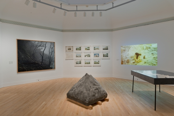 17 Volcanoes : Works by Franz Wilhelm Junghuhn, Armin Linke, and Bas Princen. Installation view, 2016 © Canadian Centre for Architecture