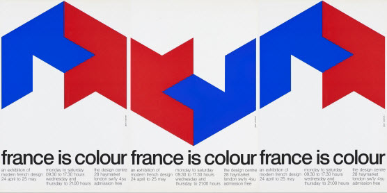 Jean Widmer, France is Colour, poster triptych, 1974 © Jean Widmer, Paris
